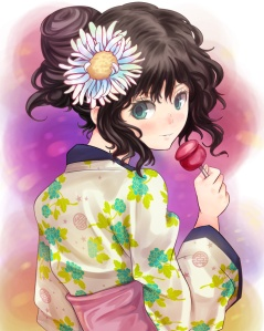 Probably a summer yukata and not a New Year's kimono. Meh.